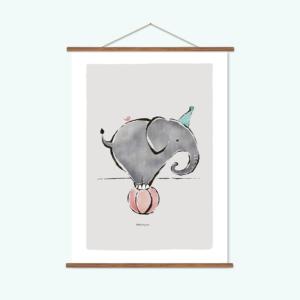poster-dieren-olifant-kikkerenprins
