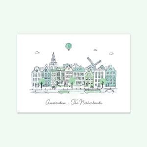 kaartenset-skyline-amsterdam