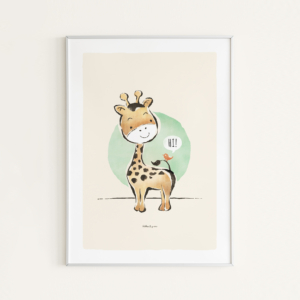 kinderkamer poster giraf
