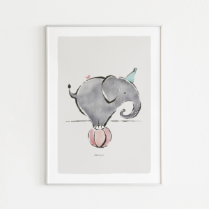 Kinderkamer poster olifant