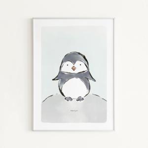 dieren poster pinguin voor de kinderkamer