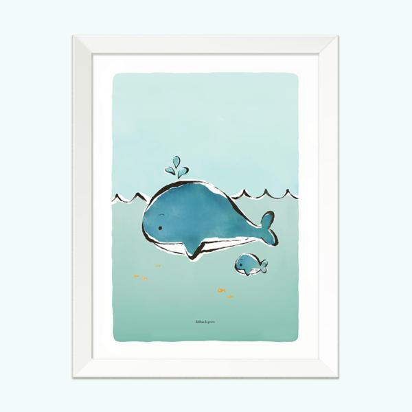 poster-dieren-walvis-kikkerenprins