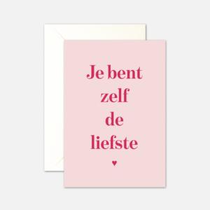 kaartenset je bent zelf de liefste