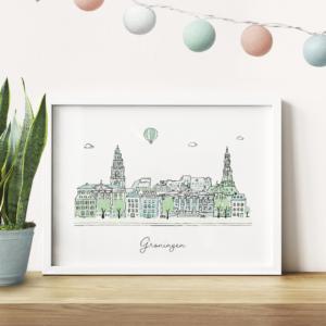 Skyline poster Groningen