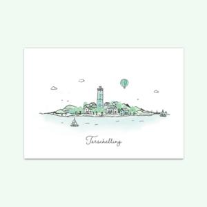 kaartenset-skyline-terschelling-kikkerenprins