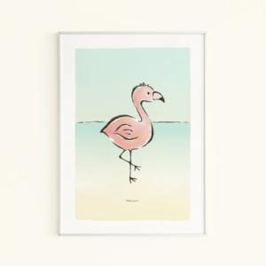 kinderkamer poster flamingo kikker & prins