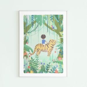poster jungle jongen voor de jongenskamer kikker & prins