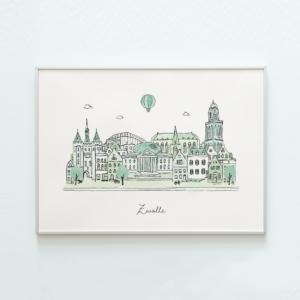 poster skyline zwolle kikker & prins